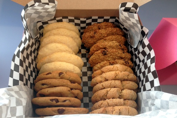Warm and gooey cookies ready for delivery. Photo by Megan O'Kain Lotay.