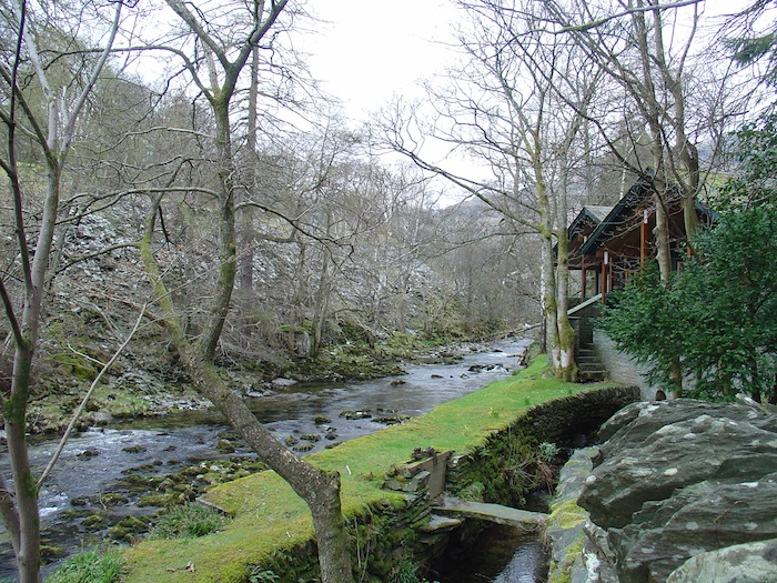 Creekside cabin in Lake District, United Kingdom. Photo by John Murphy.