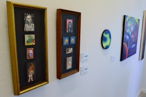 Some of the works on display in MOSAIC Gallery. Photo by Page Graham.
