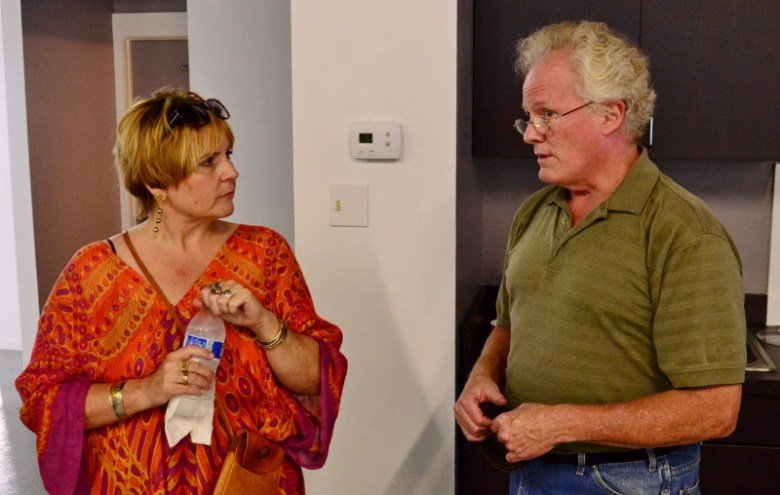 Tami Kegley and Kevin G. Saunders at Secession Gallery 107. Photo by Page Graham.