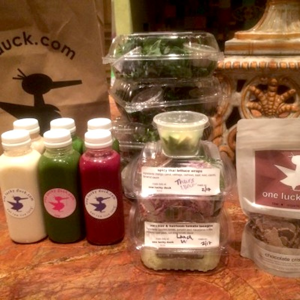 Three days worth of food for the One Lucky Duck cleanse. Photo by Claudia Zapata.