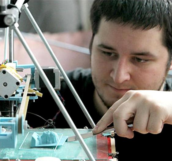 Since 2009, Josef has been developing one of the most popular Open Source 3D printers - the Prusa Mendel. All his work is done for the RepRap project - which focuses on printers that self-replicate.