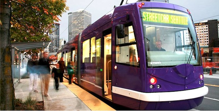 South Lake Union Streetcar. Photo courtesy of the City of Seattle.