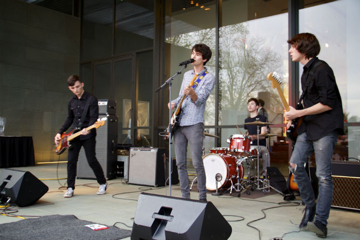 A band of high schoolers performs at Teen Art Night at the McNay Art Museum. Photo by Tommie Ethington.