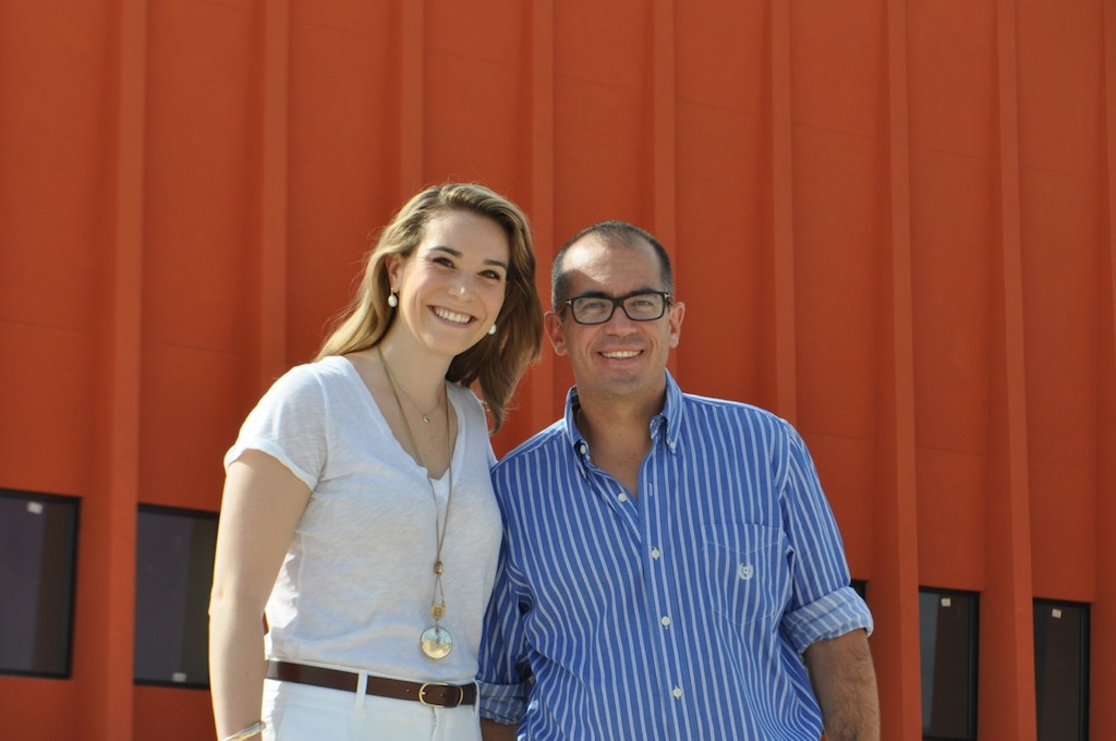 Public Relations Manager Ellie Leeper with Managing Director Ricardo Guzman Hefferan. Photo by Iris Dimmick.