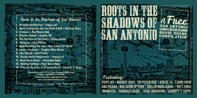Roots in the Shadows of San Antonio sleeve. Courtesy image.
