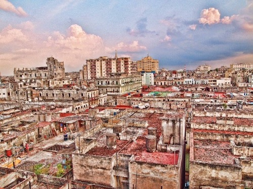 A rooftop view of Cuba. Image courtesy of Eric Lane Photography.