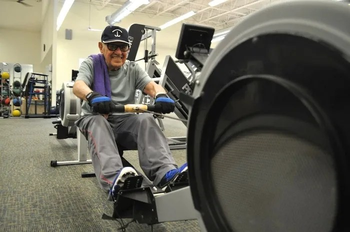 Manny Vela works out at D.R. Semmes Family YMCA at Tripoint. Photo by Iris Dimmick.