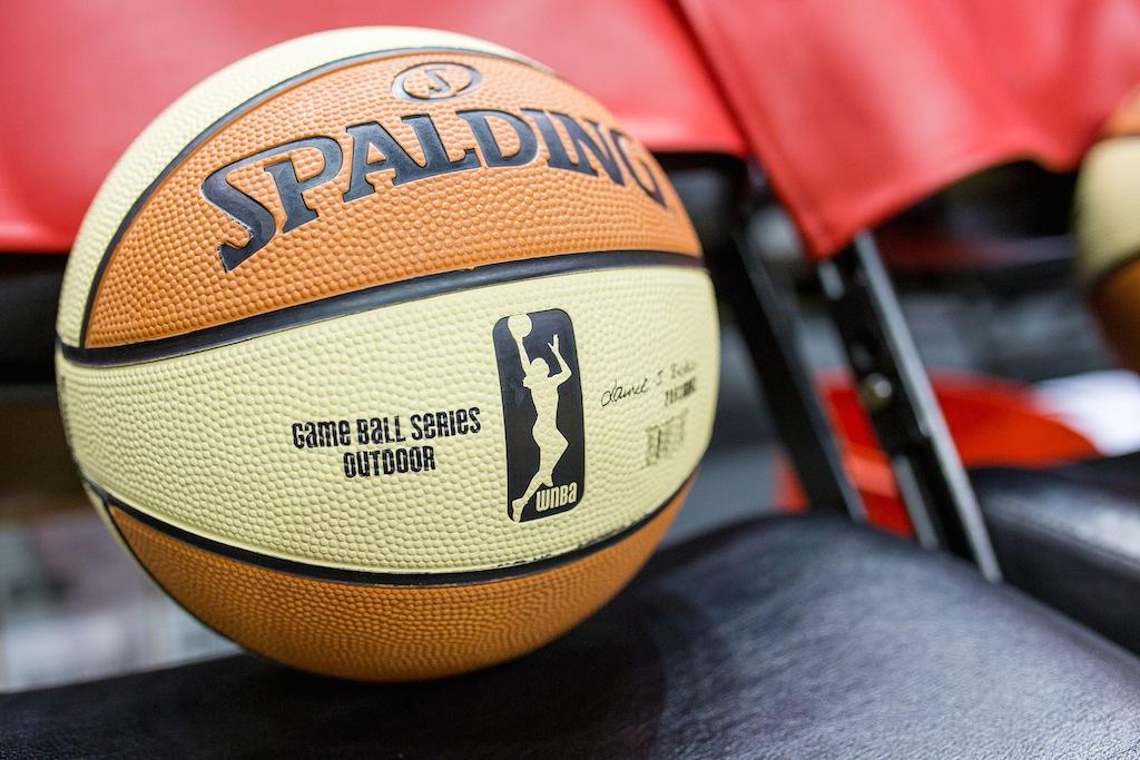 A WNBA Game Ball. Photo by Scott Ball.