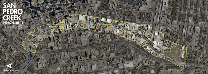 San Pedro Creek project area map. Courtesy SARA.