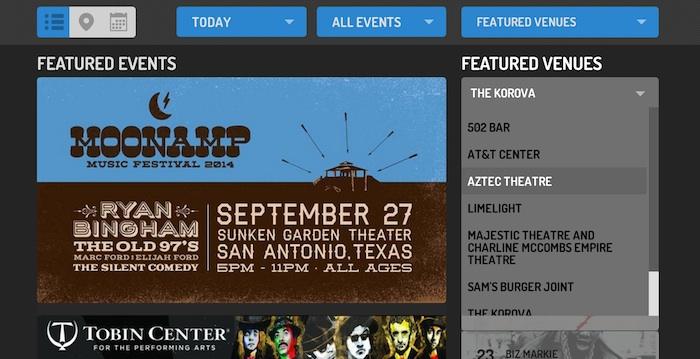 Screen shot of www.Do210.com.