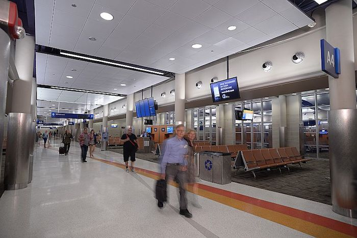 Terminal A interior. Photo courtesy of the San Antonio Internaional Airport.