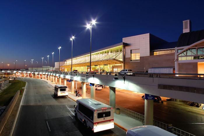 Terminal B exterior. Photo courtesy of the San Antonio Internaional Airport.