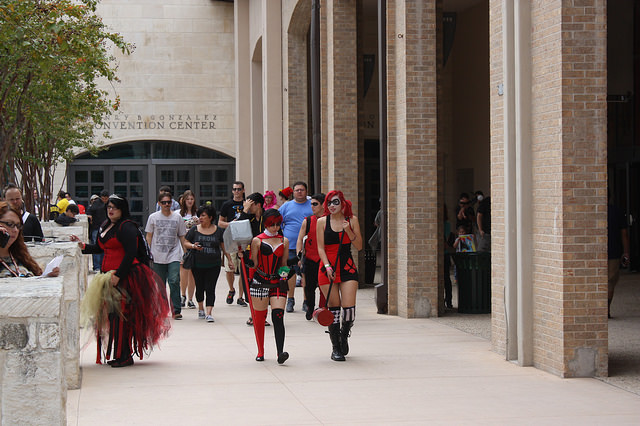Attendees, vendors and celebrities at the 2014 Alamo City Comic Con. Photo by Kay Richter.