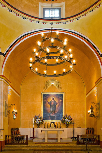 """""""Timeless Icons - The San Antonio Missions"""" exhibition at City of San Antonio International Center, as part of FotoSeptiembre 2014. Photo by Al Rendon."""