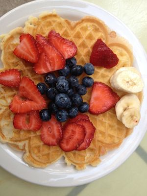 Bike4Breakfast waffles styled, staged, photographed – and then eaten – by Robert Rivard.