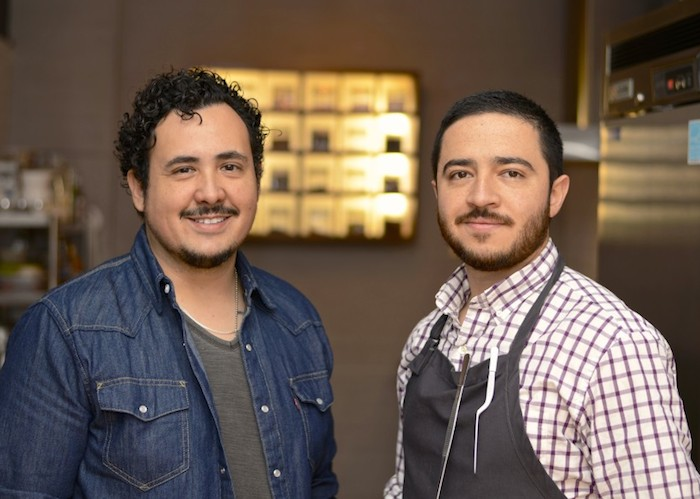 Chef Rico Torres (left) and Chef Diego Galicia in the Mixtli kitchen. Courtesy photo.