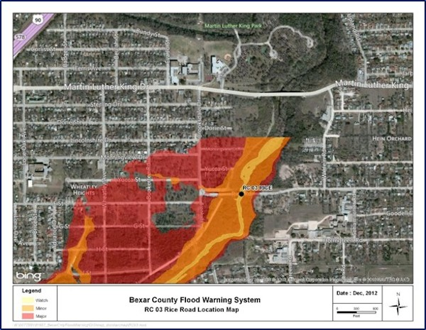 Bexar County Flood Warning System on FloodWorks.