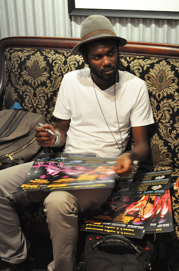 Gary Clark Jr. in the Green Room at Sam's Burger Joint, Sept. 14, 2011. Photo by Annette Crawford.