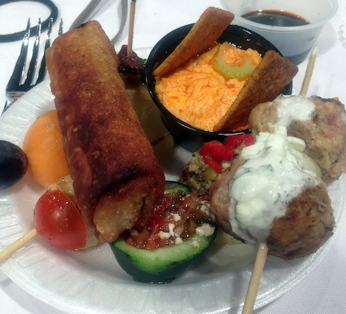 Appetizers prepared by East Central High School's culinary program. Photo by Lily Casura.