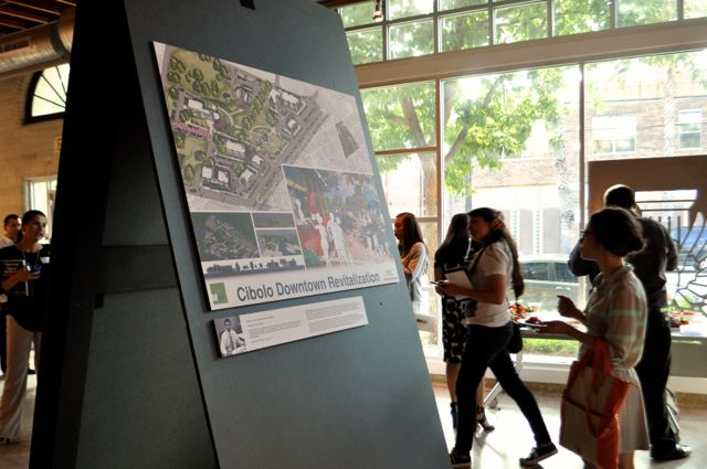 """Latinos in Architecture host the """"Nexo"""" exhibit at the AIA San Antonio Center for Architecture. Photo by Iris Dimmick."""