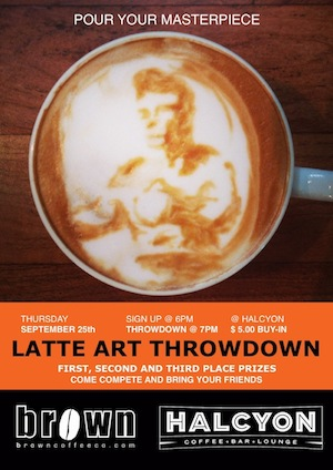The Latte Art Throwdown will be held at Halcyon Sept. 25.
