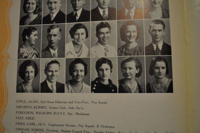 Julia Medina's Brackenridge High School yearbook (Mrs. Media is pictured on the bottom row, third from right).