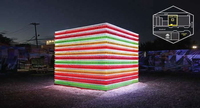 """""""Mestizo City"""" art installation by Muñoz & Company's Henry R. Muñoz III."""