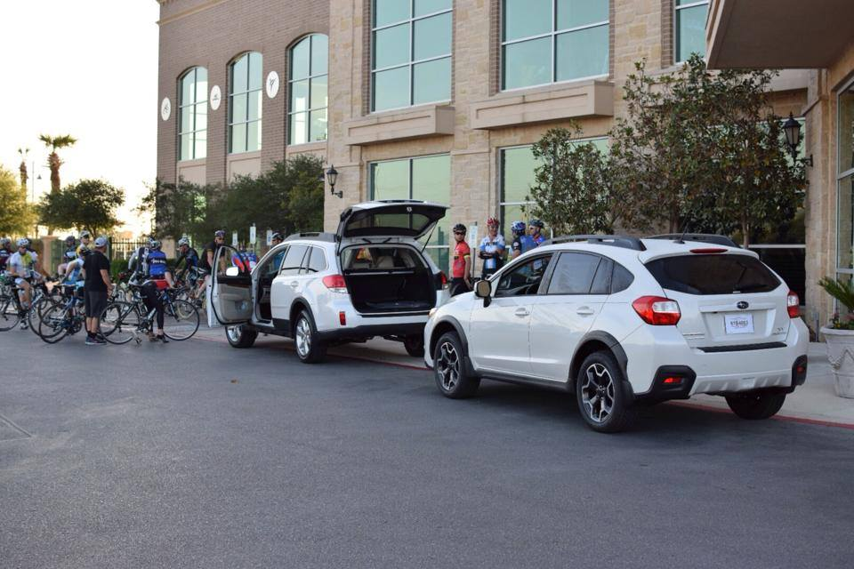 Two Swagon cars were scheduled for a particularly large training ride. Courtesy photo.
