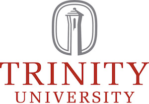 The Trinity University tower is so closely associated with the institution that it is incorporated into its logo.