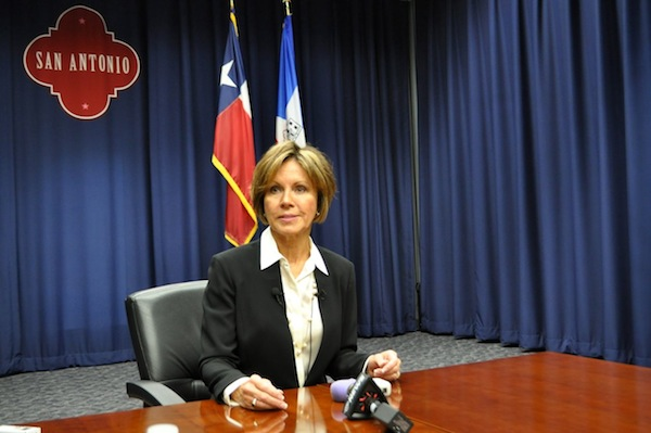 City Manager Sheryl Sculley takes questions from media following City Council's unanimous approval of the 2015 Budget. Photo by Iris Dimmick.
