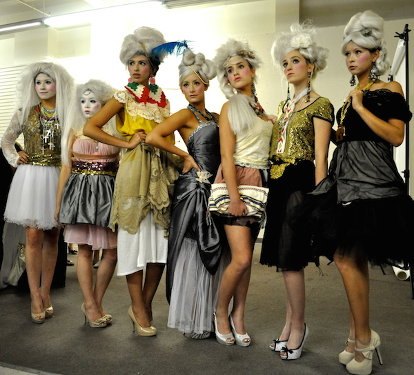 Models wear the work of local designer Agusto Cuellar at the Center City Open House in May 2013. Photo by Iris Dimmick.