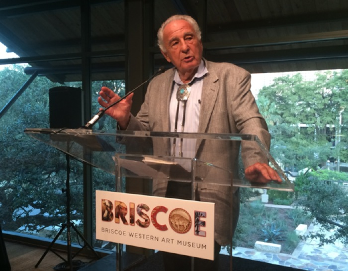 Ben Nighthorse Campbell speaks about creating Indian jewelry and art at the Briscoe Western Art Museum. Courtesy photo.