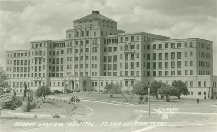 A period photo of the historic Brooke General Hospital, which now houses US Army South.