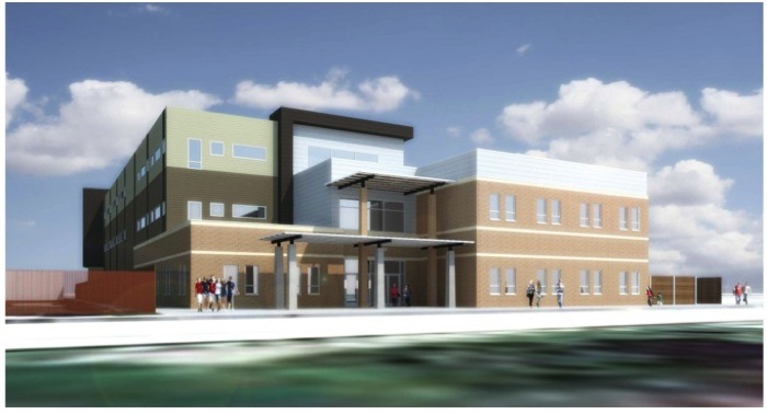 The IDEA Carver Academy on the Eastside is adding a new three-story, 50,000-square-foot college preparatory building across the street from the current 4.5-acre Carver Academy, home to kindergartner through fifth grade students. The first floor will include the new David Robinson Museum. Image courtesy of IDEA Public Schools.
