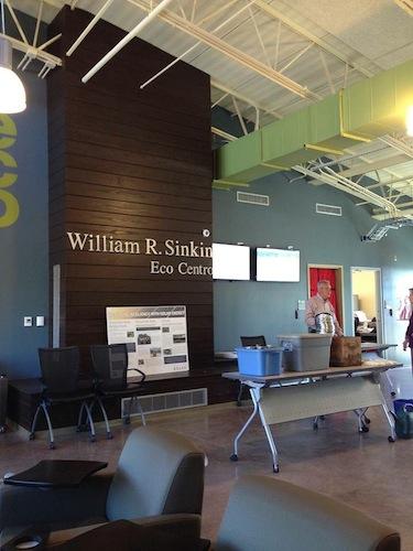 The lobby of Eco Centro at San Antonio College. Photo courtesy of EcoCentro.