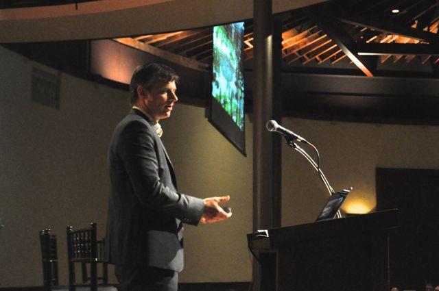 CEO of EcoDistricts Robert Bennett at the AIA San Antonio and ULI San Antonio luncheon. Photo by Iris Dimmick.