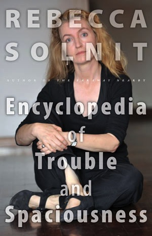 """""""The Encyclopedia of Trouble and Spaciousness,"""" by Rebecca Solnit. Publisher: Trinity University Press (2014)."""
