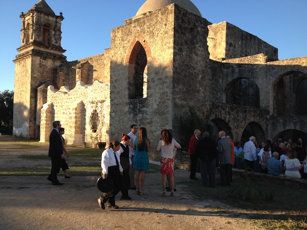Hundreds gather at Mission San José for the 2014 Rose Window Award Gala. Photo by Robert Rivard.