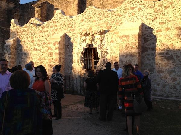 Hundreds gather at Mission San José for the 2014 Rose Window Award Gala. Photo by Robert Rivard.