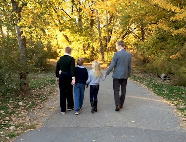 The Liza Long's four children, together on a fall day in Idaho. Courtesy photo.