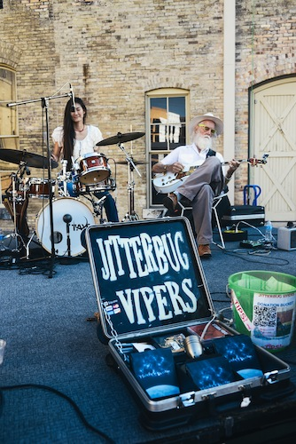 Jitterbug Vipers perform during a recent SAMA Art Party. Photo by Steven Starnes.