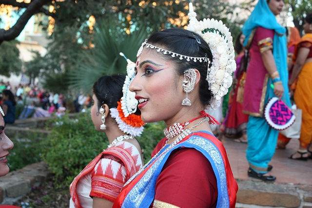 A young woman participates in the 2013 Diwali San Antonio festival. Photo by Kay Richter.