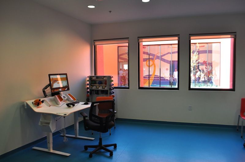 One of several physical and mental therapy rooms at CRIT USA. Photo by Iris Dimmick.