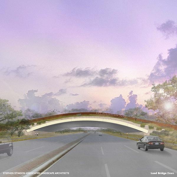 Rendering of Hardberger Park land bridge.