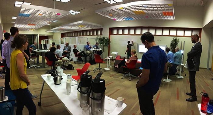 A recent 1 Million Cups event at Café Commerce. Courtesy photo.