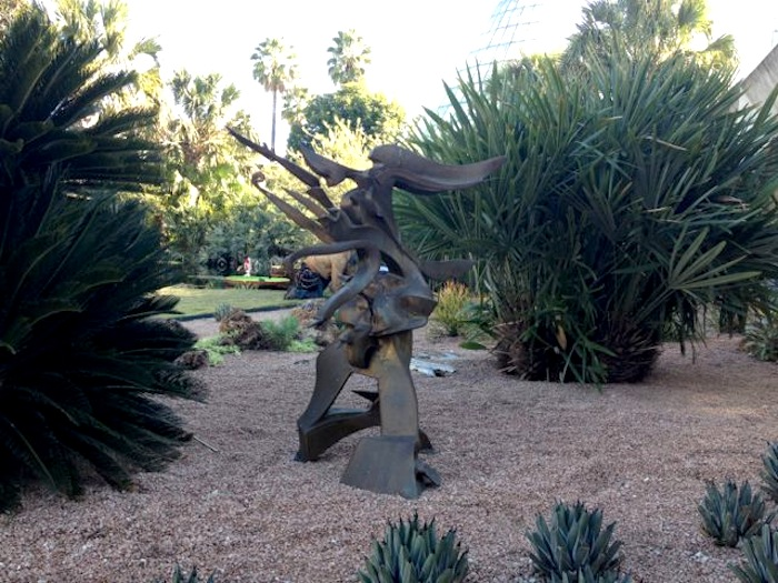 A bronze sculpture by Richard Hunt in the San Antonio Botanical Garden. Photo by Robert Rivard.