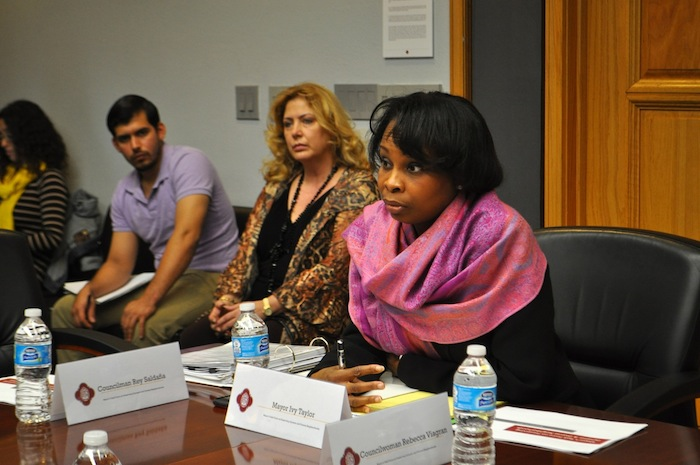 Mayor Ivy Taylor leads the Task Force on Preserving Dynamic and Diverse Neighborhoods. Photo by Iris Dimmick.
