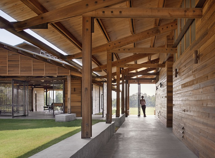 Dixon Water Foundation's Josey Pavilion in Decatur, Texas designed by Lake/Flato Architects.