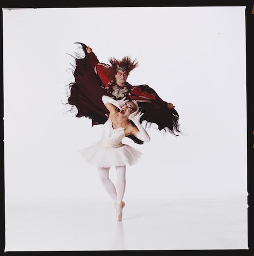 "Les Ballets Trockadero De Monte Carlo pose for a photo during rehearsal of ""Swan Lake."" Courtesy photo."